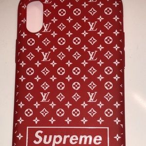 iPhone X Supreme/ Louis Vuitton Cell Phone case